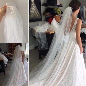 Wedding Veil - Floor Length, Never Worn